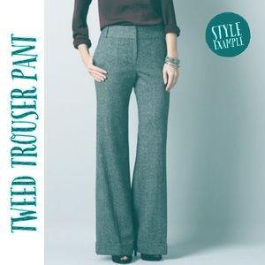 LOFT Chalet Moulinee Tweed Wide Leg Trouser 12P